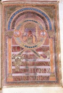 Harley Golden Gospels, fol. 109r, from Aachen ca. 800-825