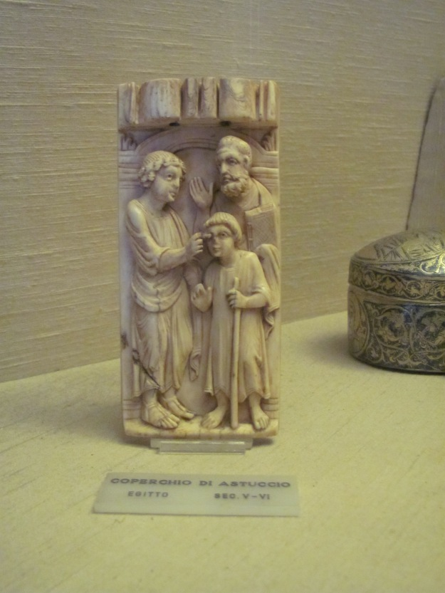 6th-7th-c ivory lid, Vatican Museum