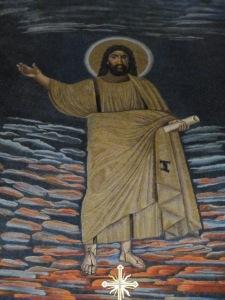 Sixth-century mosaic of Christ, Santi Cosma e Damiano, Rome