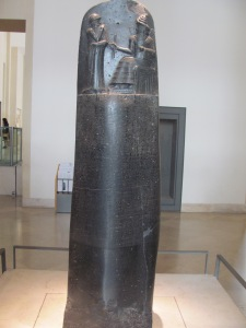 My pic of the Code of Hammurabi in the Louvre