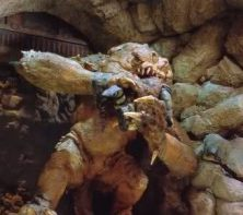 Rancor eats gamorrean guard