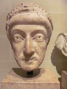 Theodosius II, in the Louvre (my photo)