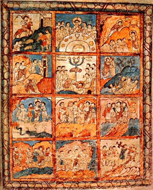 Folio 125r, 12 scenes from the Passion