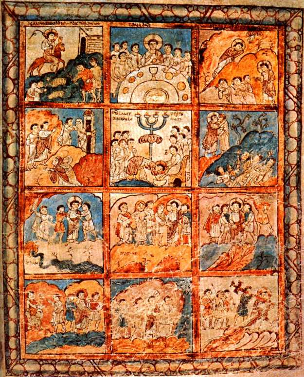 Folio 125r, 12 scenes from the Passion