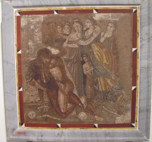 Mythology through art - Theseus vs the Minotaur, National Archaeological Museum, Naples