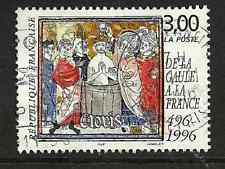 1996 French stamp issue featuring Clovis I (r. 496-511)